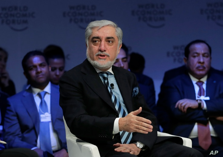 Abdullah Abdullah, Chief Executive Officer of the Islamic Republic of Afghanistan, participates in a session at the annual meeting of the World Economic Forum in Davos, Switzerland, Jan. 22, 2019.