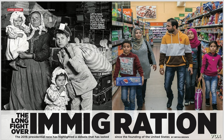 Scholastic Inc.'s magazines, aimed at young readers, tackle election issues such as immigration policy and history. (Courtesy of Scholastic Inc.)