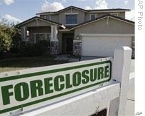 The Mortgage Bankers Association said more than 4.6 percent of American homeowners were in foreclosure for the January to March period, which is a record.
