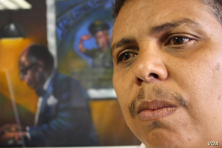 Andre Le Roux, chief of the Southern African Music Rights Organization, says South Africa is not doing enough to support local talent. (D. Taylor/VOA)