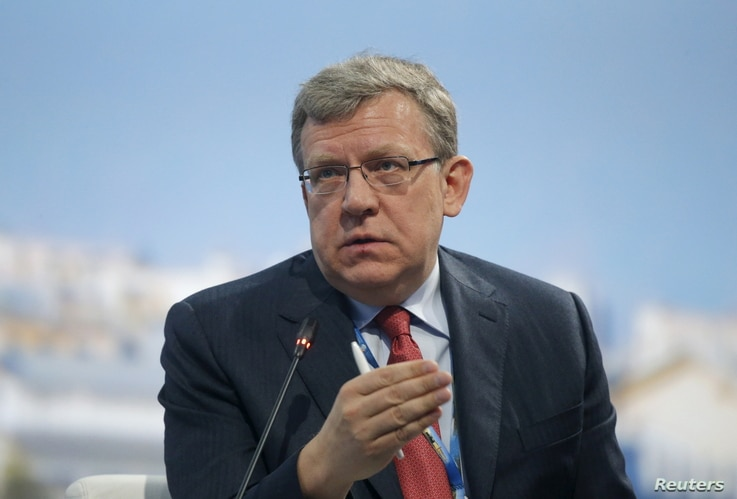 Russia's former Finance Minister Alexei Kudrin speaks during a session of the St. Petersburg International Economic Forum 2015 (SPIEF 2015) in St. Petersburg, Russia, June 18, 2015.