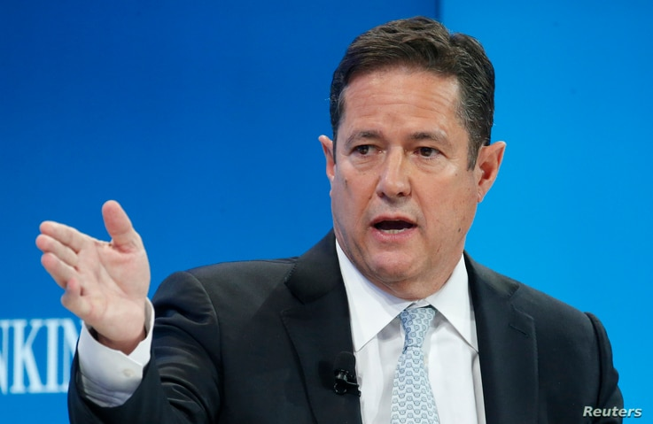 Jes Staley, CEO of Barclays bank, attends the World Economic Forum annual meeting in Davos, Switzerland Jan. 20, 2017.