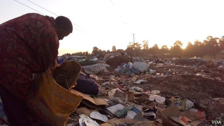 Garbage sorter Shadrack Musyoka tracks the number of abandoned infants found at the Ngong dump, where pigs and other animals root for food.