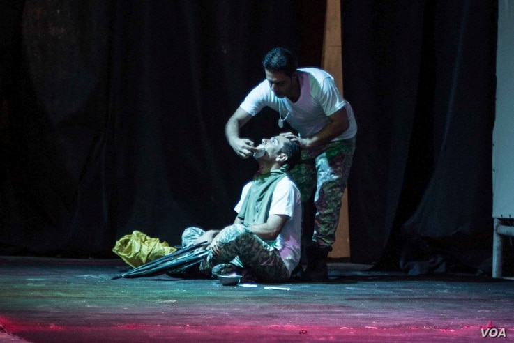 The first performance in held in Stars Cinema was put by an Iraqi troupe.