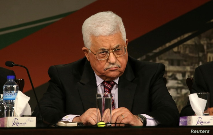 Palestinian President Mahmoud Abbas attends the Fatah congress in the West Bank city of Ramallah, Nov. 29, 2016.