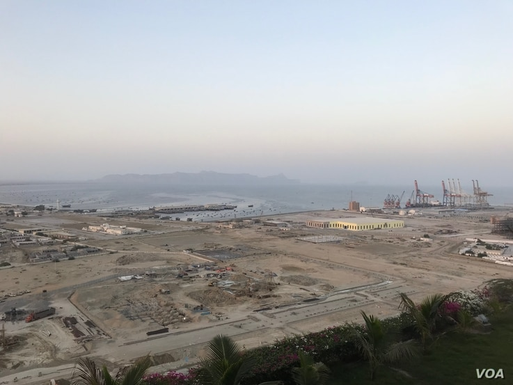 A general view of Gwadar port in Gwadar, Pakistan. (A. Gul/VOA)