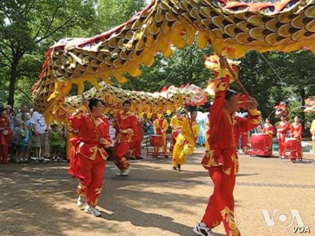 Dragon Dances at Chinese Lantern Festival