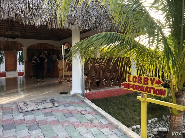 . The Buccanier Beach Club hotel in Leogane where the tourists spent the night.