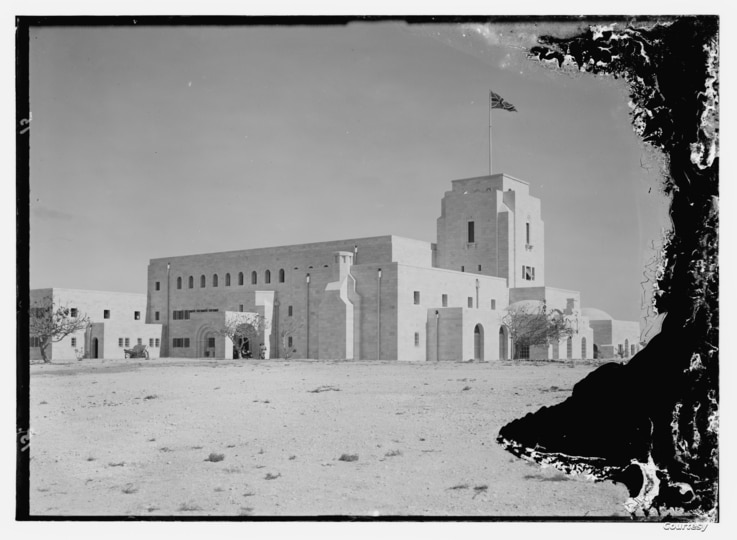 British Government House in Jerusalem in 1932, one year before its construction was completed.