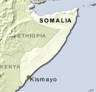 Al-Shabab insurgents control much of southern Somalia, including the city of Kismayo.