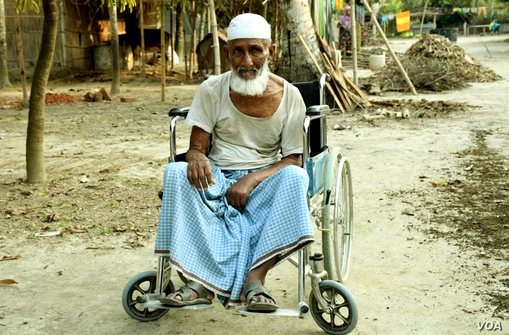 BNP leader Abdul Khalek Sarkar, 86, a resident of Bogra district, says he cannot move around properly, but police have filed a violence-related case against him.