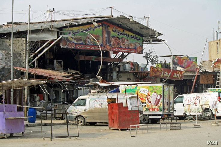 My Beautiful Lady, a popular eastern Mosul, Iraq, restaurant among locals and high ranking military officials was targeted in a suicide bombing Friday, devastating the surrounding community and killing several people.