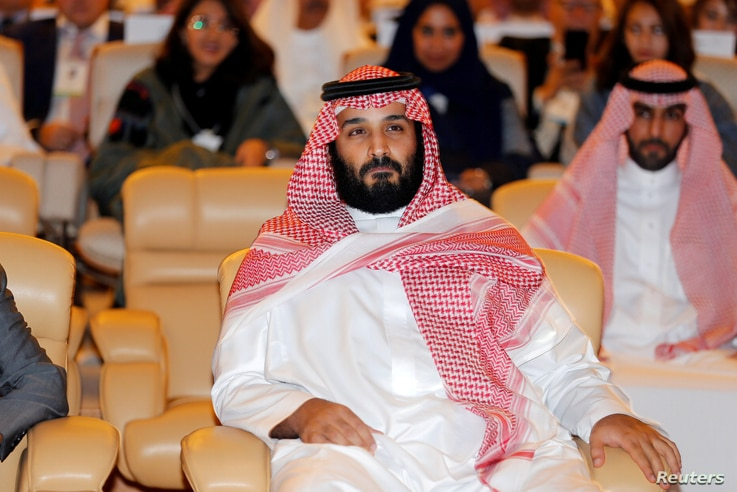 FILE - Saudi Crown Prince Mohammed bin Salman, attends the Future Investment Initiative conference in Riyadh, Saudi Arabia, Oct. 24, 2017.