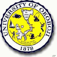 The impressive seal of the Great University of Okoboji.  We kind of think they made up the 1878 date, however.