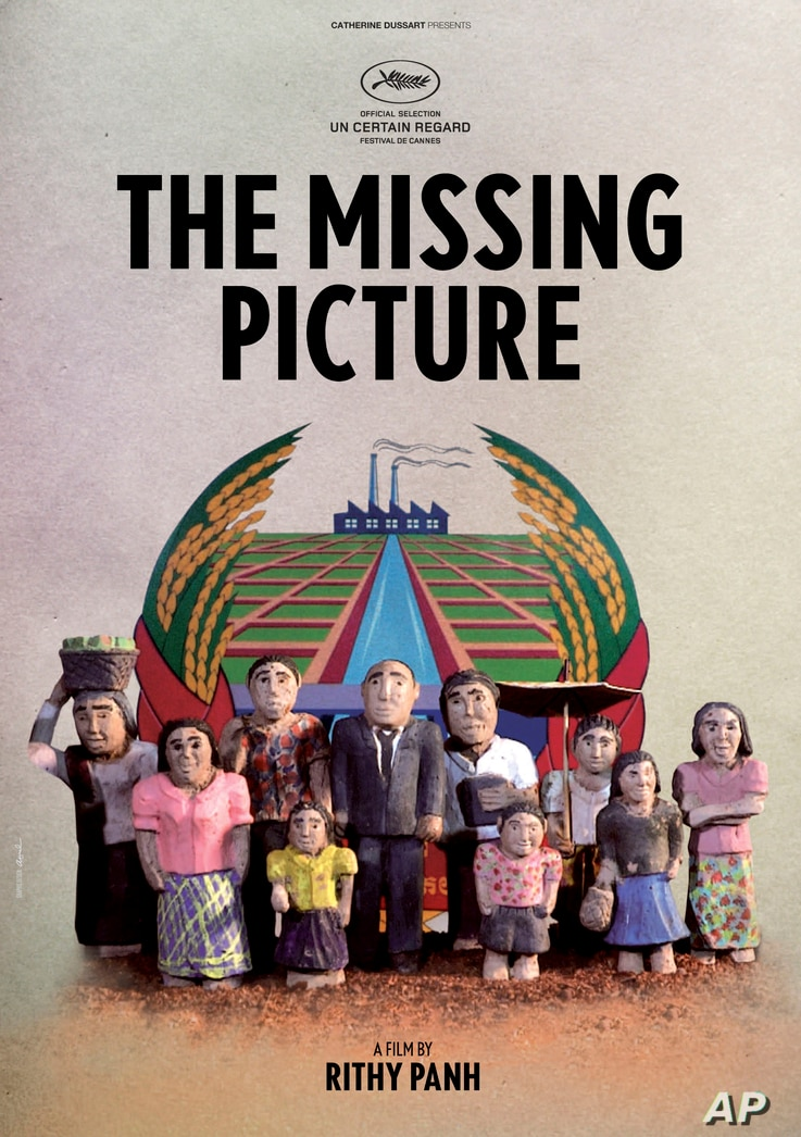 """An undated photo released by Bophana Center shows a poster of """"The Missing Picture"""" directed by Cambodian film director Rithy Panh."""