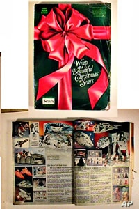 Product catalogs have been around for a century or more.  Sears and Montgomery Ward department stores began sending them out in the late 1800s.  This Sears Christmas catalog is 1970s vintage.