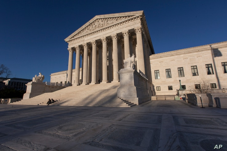 In this photo taken on Tuesday, April 4, 2017, the Supreme Court Building is seen in Washington.