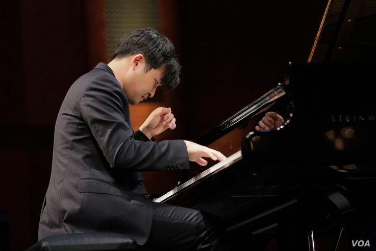 Yekwon Sunwoo of South Korea performs Tuesday in the Quarterfinal Round of the 15th Van Cliburn International Piano Competition.