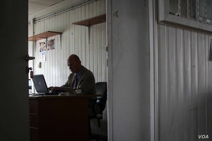 John Whyte heads up the project to rebuild Nahr al-Bared for UN agency UNRWA. (John Owens for VOA)