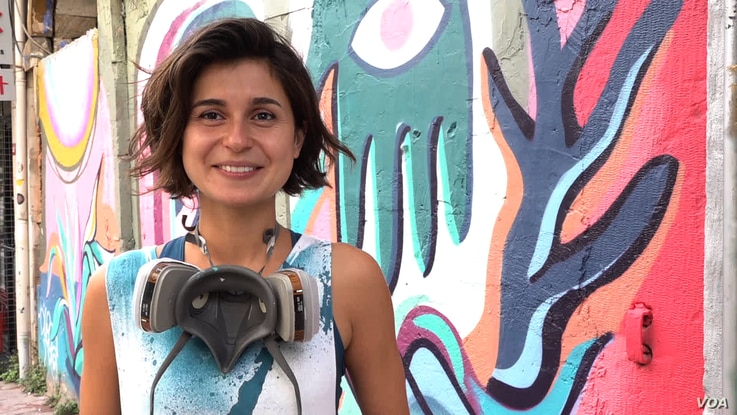 Gamze Yalcin is among a growing number of women graffiti artists in Istanbul. She does most of her work in Istanbul's trendy Tophane district.