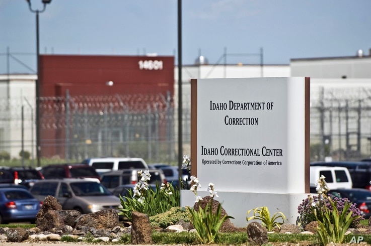 FILE - The Idaho Correctional Center south of Boise, Idaho, is operated by Corrections Corporation of America and is pictured in this June 15, 2010, photo. The Justice Department says it's phasing out its relationships with private prisons.