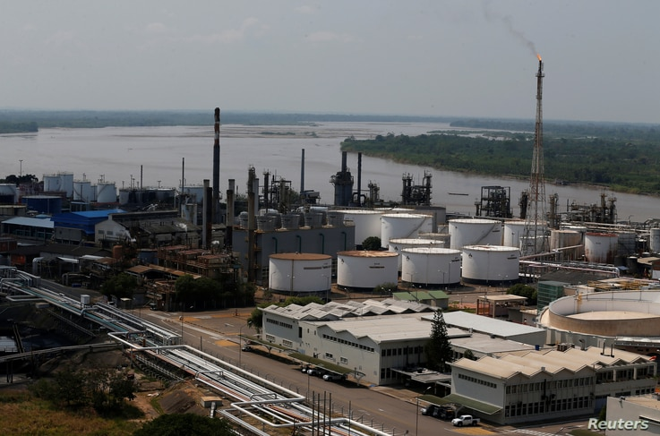 A view of the oil refinery Ecopetrol in Barrancabermeja, Colombia, March 1, 2017.