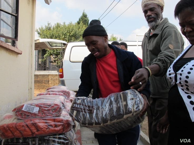 Local Spaza or Tuck shop in Dube Village, Soweto, South Africa (Photo: Gillian Parker for VOA)