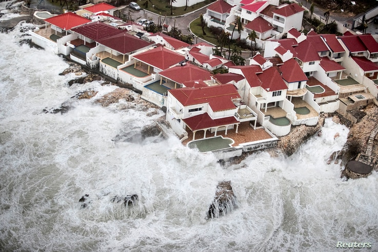 View of the aftermath of Hurricane Irma on Saint Maarten, the Dutch part of Saint Martin island in the Caribbean Sept. 6, 2017.
