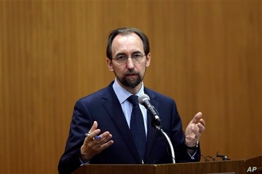 U.N. High Commissioner for Human Rights Zeid Ra'ad Al Hussein gives lecture at Yonsei University in Seoul, South Korea, June 24, 2015.