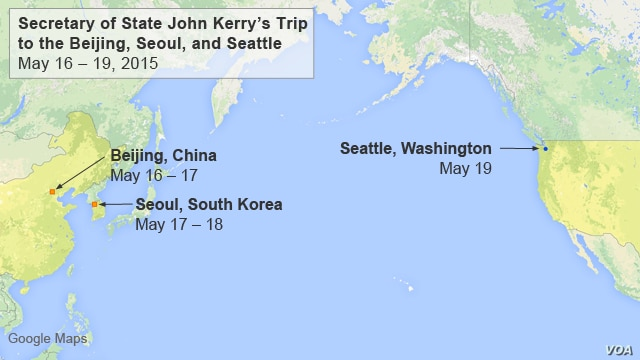 Secretary of State John Kerry's Trip to Beijing, Seoul, and Seattle, May 16 - 19, 2015