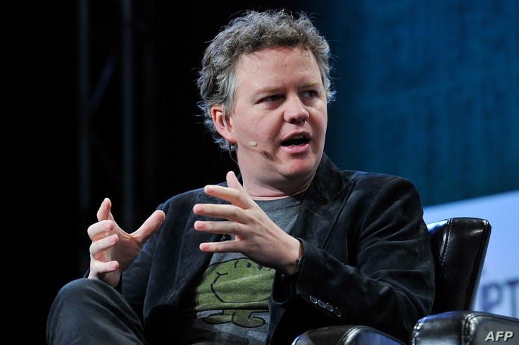 FILE - Matthew Prince of CloudFlare speaks onstage during day two of TechCrunch Disrupt SF 2015 at Pier 70 in San Francisco, California, Sept. 22, 2015.