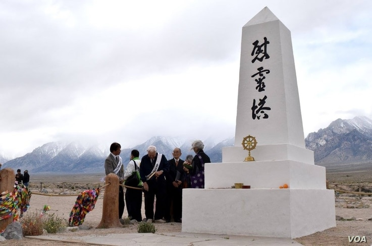 An annual pilgrimage to the Manzanar National Historic site - one of ten concentration camps in which Americans of Japanese ancestry were held during World War II - has been held for more than 40 years