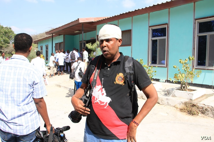 Farah Abdi, a photographer for the Associated Press, was injured while covering the latest hotel bombing in Mogadishu