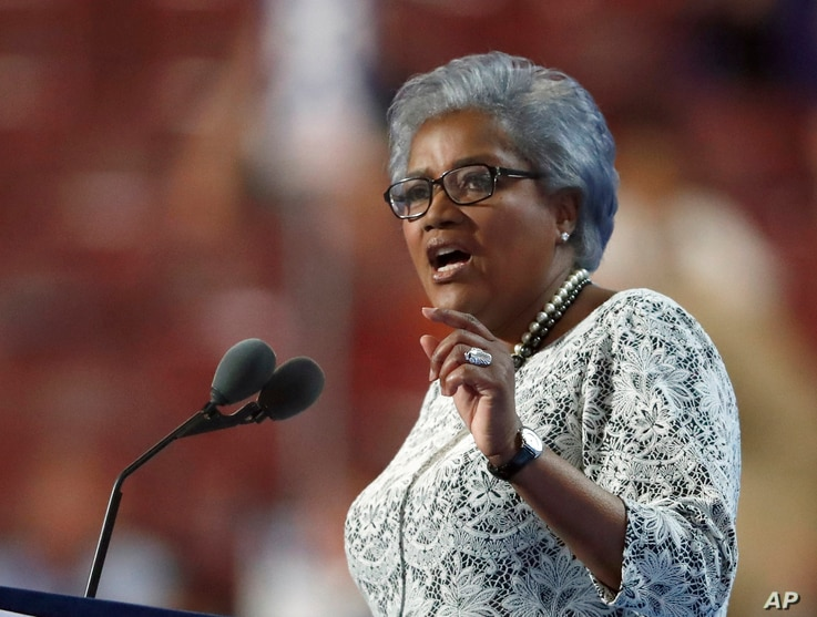 Brazile addresses the crowd