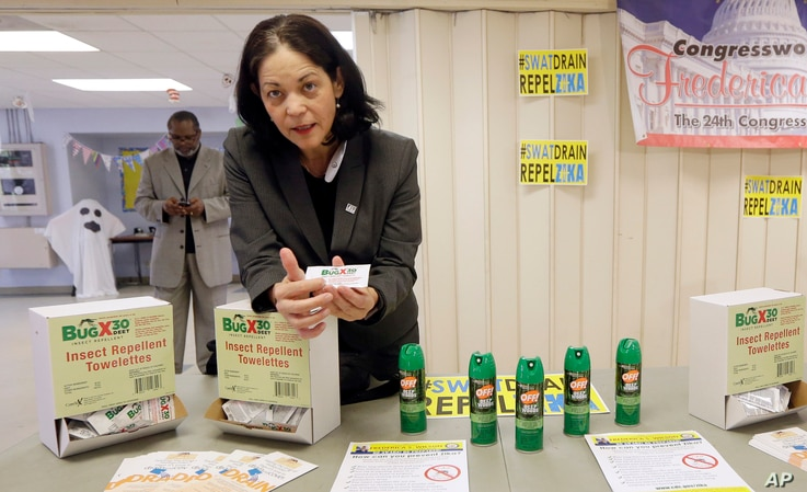 Dr. Aileen Marty, professor of Infectious Diseases at Florida International University, explains the use of insect repellent towelettes in Miami. There have been 238 cases of Zika reported in Florida.