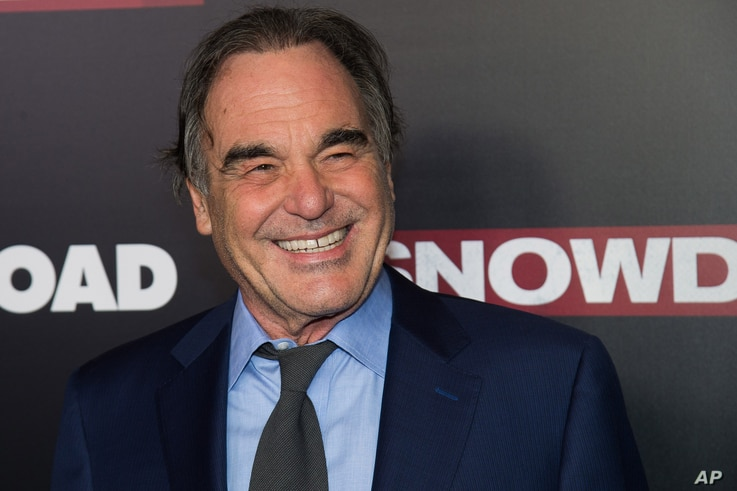 "Oliver Stone attends the premiere of ""Snowden"" at AMC Loews Lincoln Square in New York, Sept. 13, 2016."