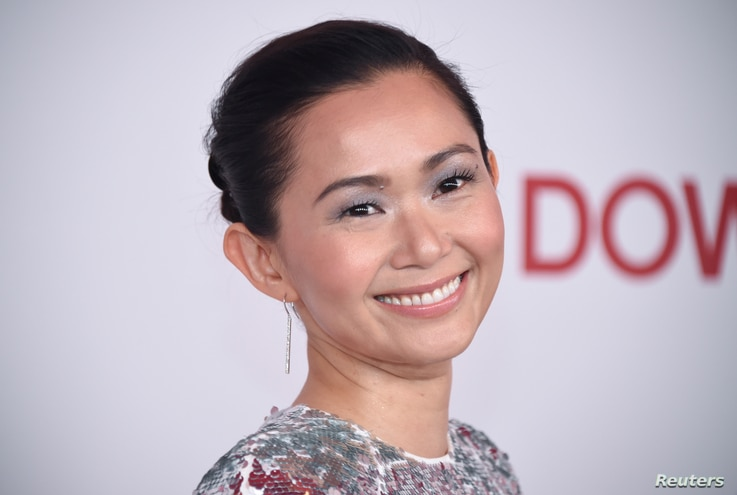 "Cast member Hong Chau attends a screening of ""Downsizing"" in Los Angeles, Dec. 18, 2017."