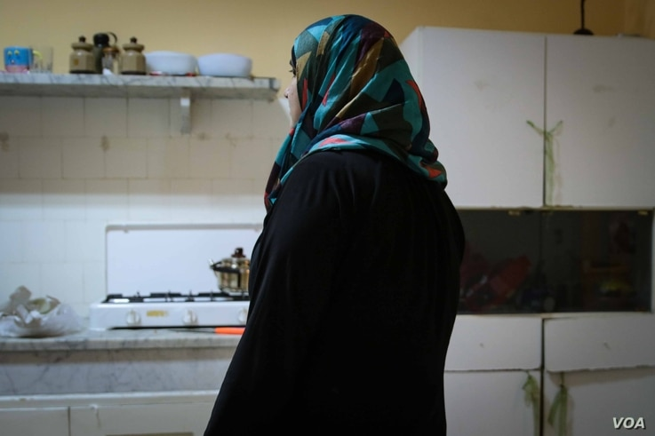 Reja at the offices of the Lebanese Council to Resist Violence Against Woman (LECORVAW) in Tripoli, Lebanon.