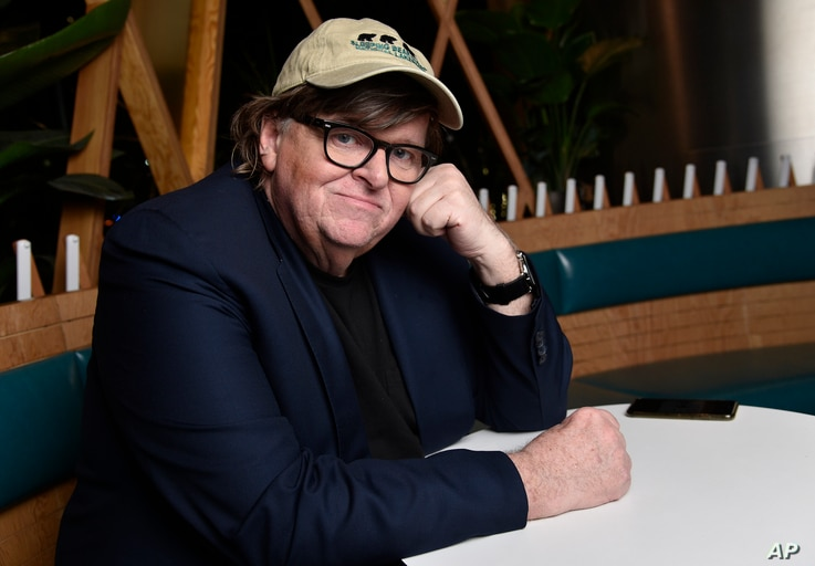 """Michael Moore, director of the new documentary film """"Fahrenheit 11/9,"""" poses for a portrait at the Endeavor Lounge during the Toronto Film Festival, Sept. 7, 2018, in Toronto."""