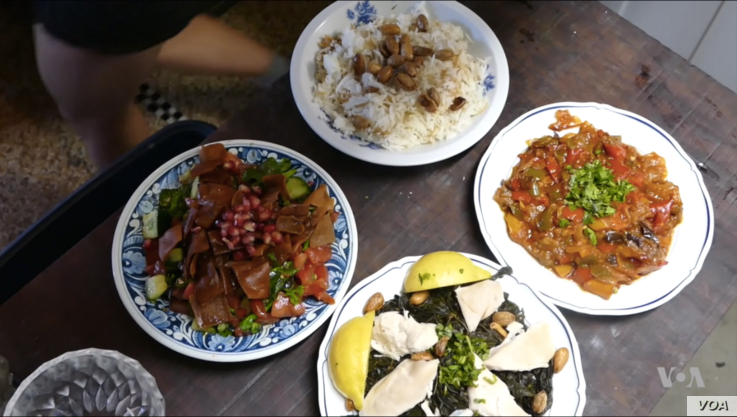 Refugee cooks serve up a variety of dishes from their homelands during the Refugee Food Festival taking place in 13 European countries.