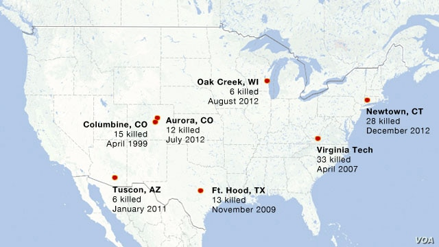 US Shootings Map