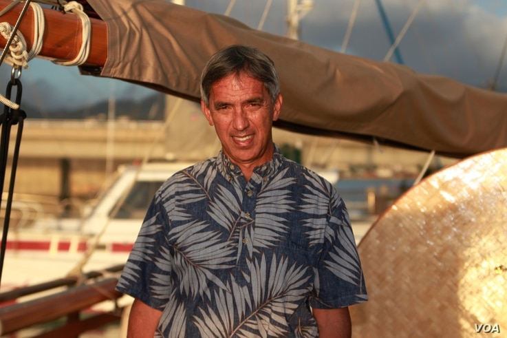 Master navigator, Nainoa Thompson became the first Hawaiian in 600 years to practice the art of wayfinding (date unknown). (Polynesian Voyaging Society)