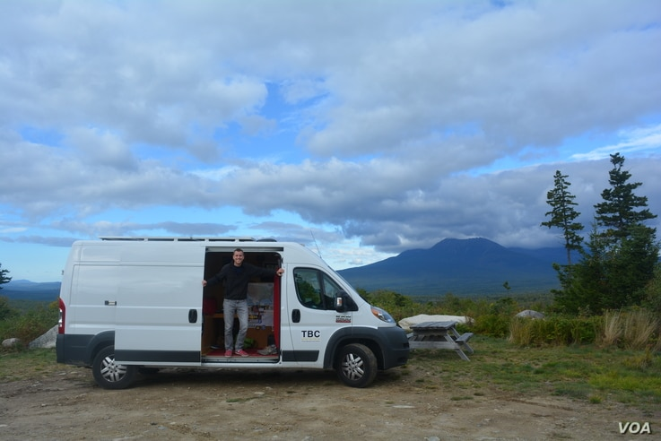 Mikah Meyer is traveling to National Park sites around the United States in a converted cargo van.
