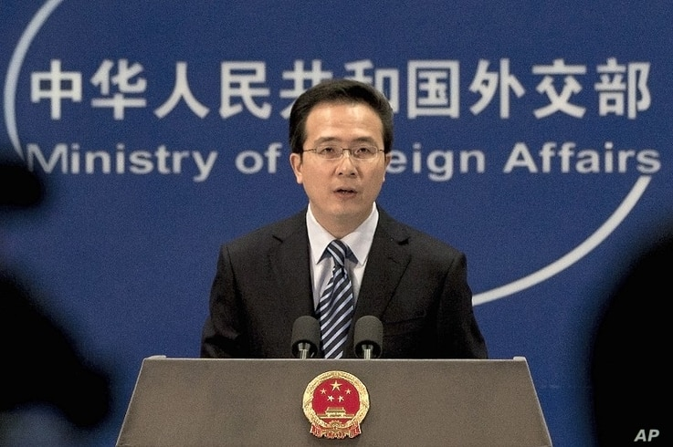 Chinese Foreign Ministry spokesman Hong Lei answers reporters' questions in Beijing, China  (file photo)