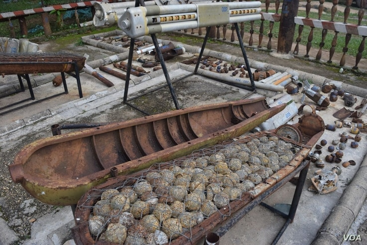The U.S dropped more than 2 million tons of ordnance in Laos while at war with neighboring Vietnam. (D. de Carteret for VOA)