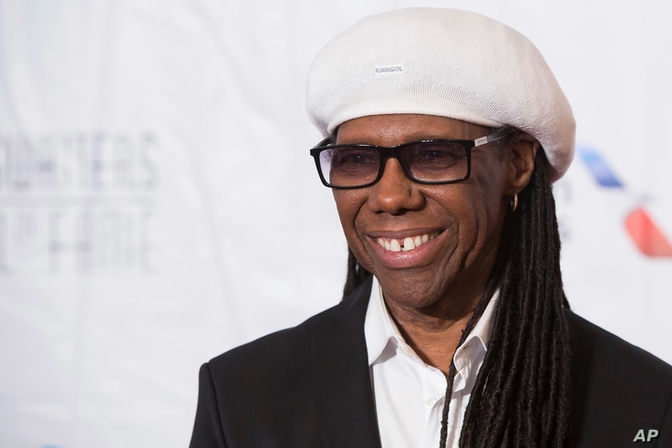 FILE - Nile Rodgers attends the 47th Annual Songwriters Hall of Fame Induction Ceremony and Awards Gala at the Marriott Marquis Hotel in New York, June 9, 2016.