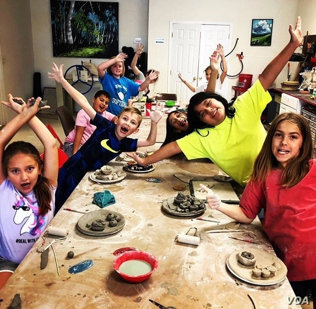 Clay and Metal Loft's summer camp inspires young artists in the community. (A. Manson)