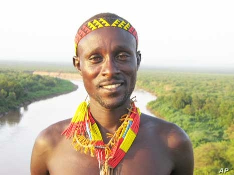 A tribesman near the Omo River in Ethiopia … He's content for now, but his life will change dramatically for the worse when the Gibe 3 dam is built, say environmentalists and scientists