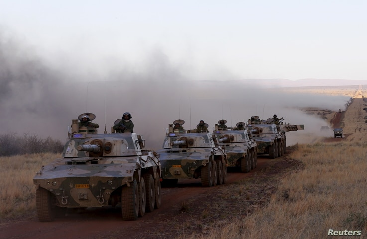 Soldiers from 22 African nations join exercises as part of the African Union's African Standby Force (ASF) at the South Africa National Defense Force's Lohatla training area, Oct. 27, 2015.