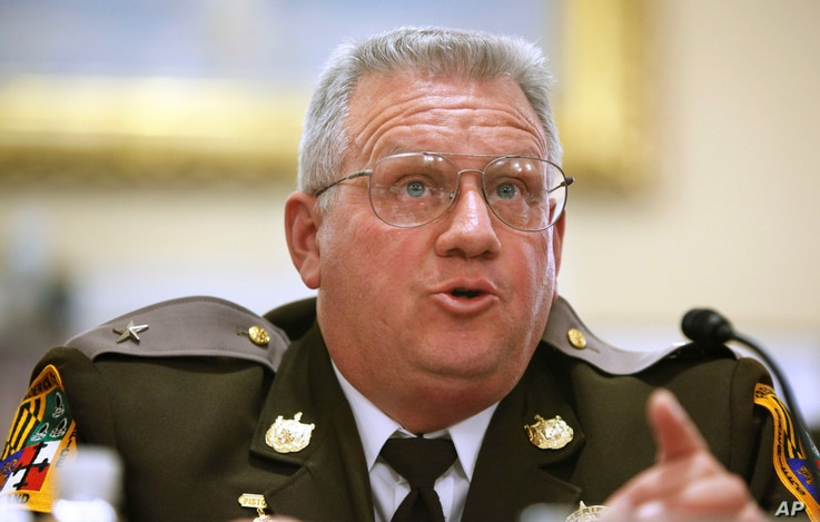 Frederick County (Md.) Sheriff Chuck Jenkins, testifies before a Homeland Security Committee hearing, March 4, 2009, in Washington.